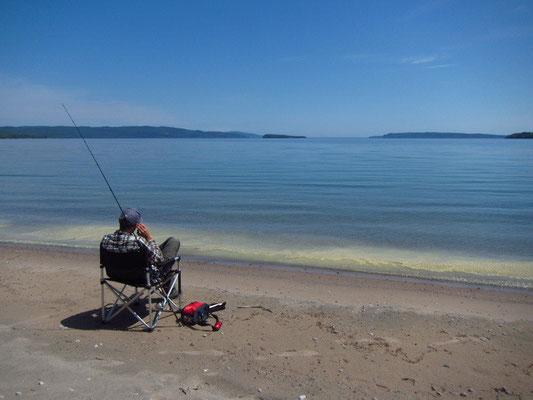 Fischerpause am Lake Superior
