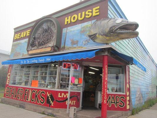 Cooler Fischerladen in Grand Marais