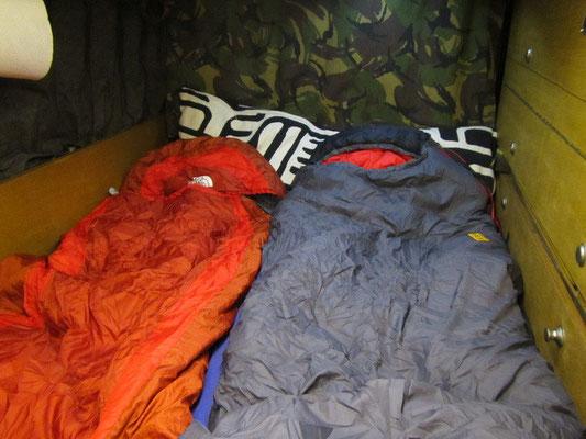 Unser Schlafplatz im Landy