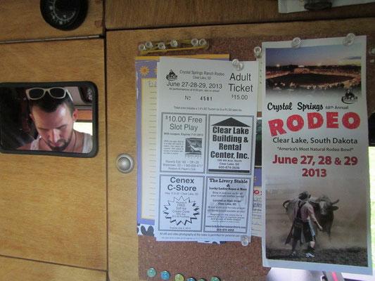 Wir haben von einem Flyer erfahren, dass ein Rodeo stattfindet