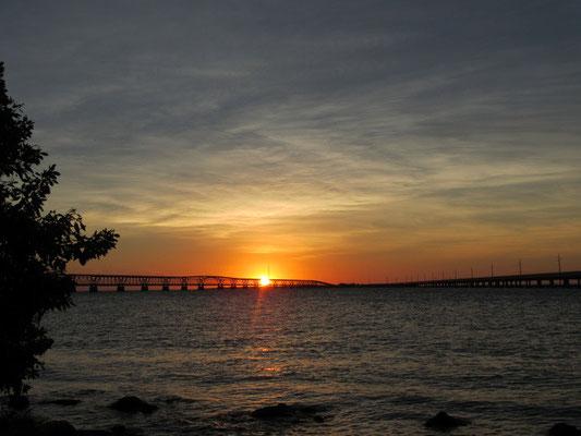 Sonnenuntergang auf dem Campingplatz in Bahia Honda State Park