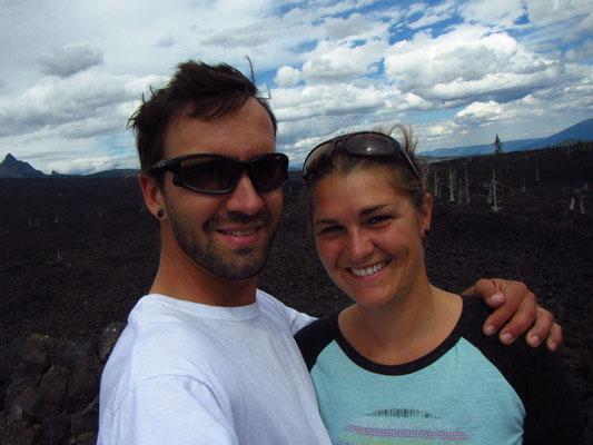 Auf Passhöhe bei den Lavafields