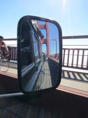 Auf der Golde Gate Brücke