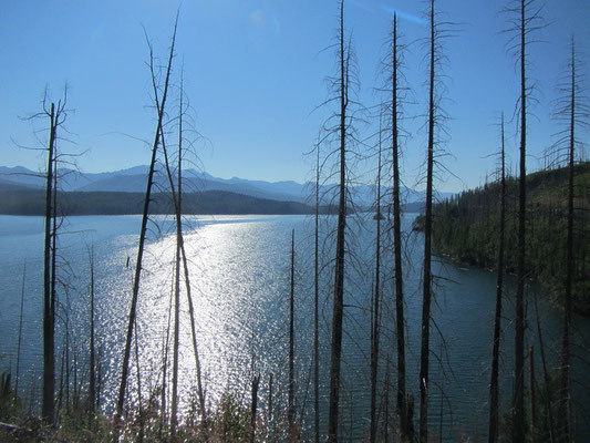 Hungry Hores Reservoir in Flathead National Forest