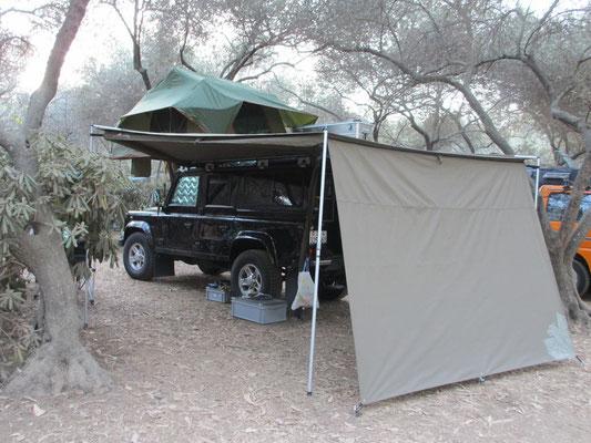 Erster Camping Platz Calamar