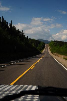 Route 389 schön asphaltiert