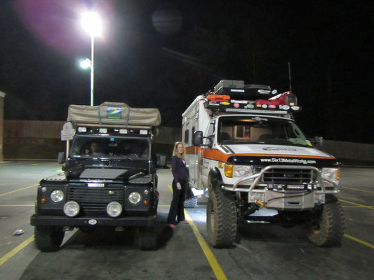 Bagheera mit dem Ambulanzwagen von Justin