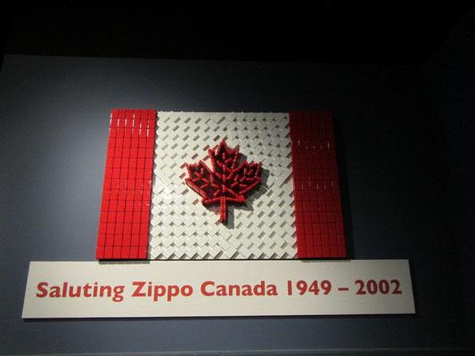 Flagge aus Zippos