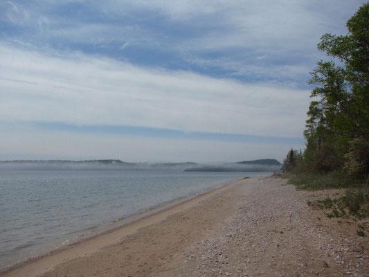 Strand für uns alleine am Lake Superior