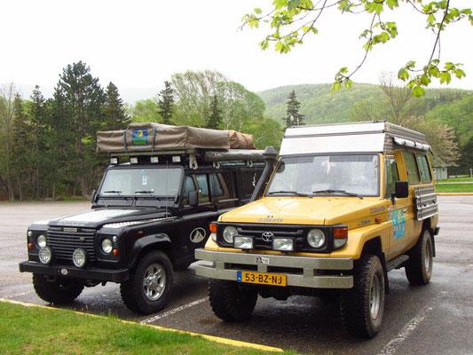 Neue Reisebekanntschaft: Bagheera mit Toyota Landcruiser von Maria & Jos