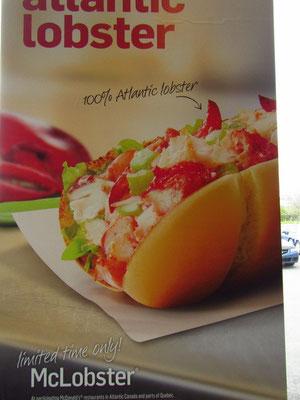 Das gibts auch nur in Länder mit Meeresnähe: McLobster im McDonald
