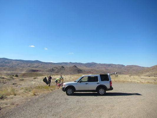 Painted Hills mit Land Rover natürlich
