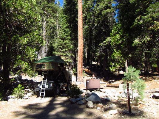 Unser Stellplatz im Sequoia