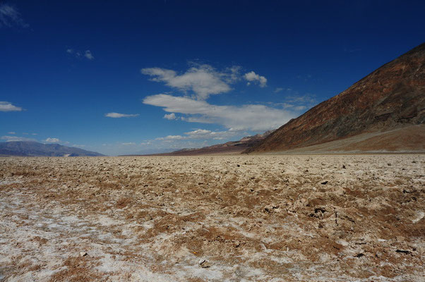 Death Valley National Park - tiefster Punkt der USA bei Badwater