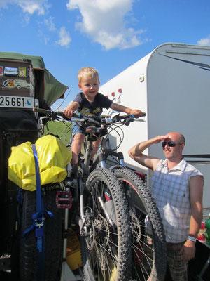 ...und der kleine unsere Bikes