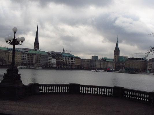 Aussicht auf Hamburg
