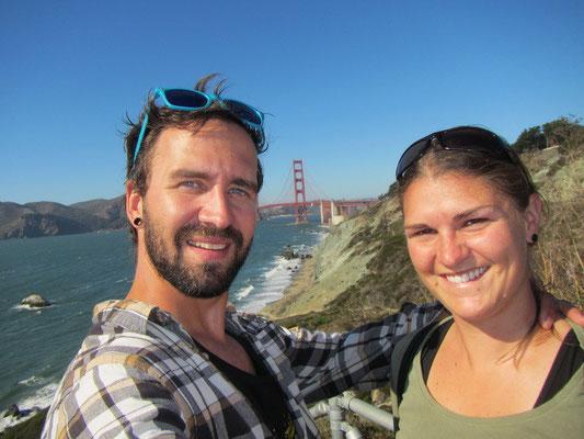 wir mit der Golden Gate Brücke