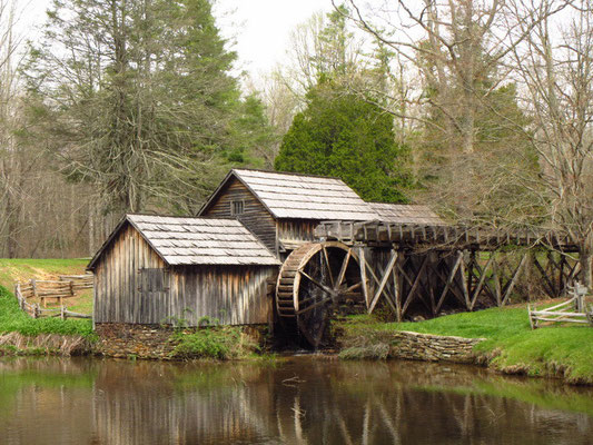 Eine alte Mühle direkt am Parkway