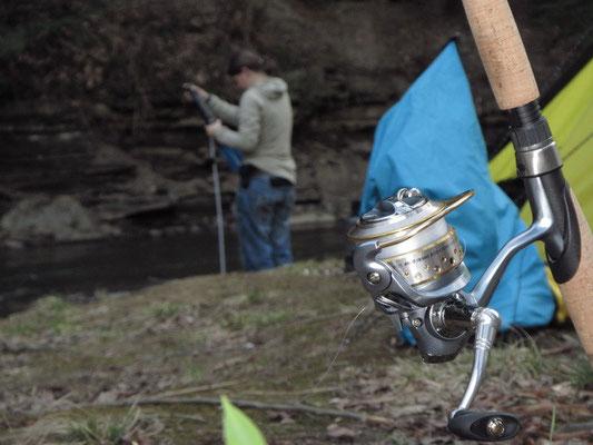 Fischen und Wasserfiltern
