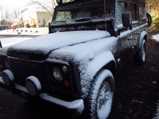 Erster Schnee auf unserer Reise in Loveland