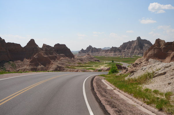 Fahrt durch den Badlands National Park
