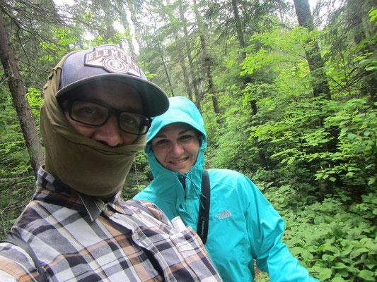 Wanderung bei 25 Grad und 1'000 von Moskitos...schwitz unter all den Kleidern