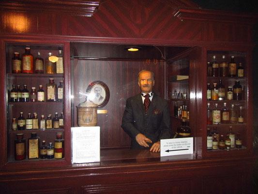Dr. Pepper Museum - Erfinder als Wachsfigur