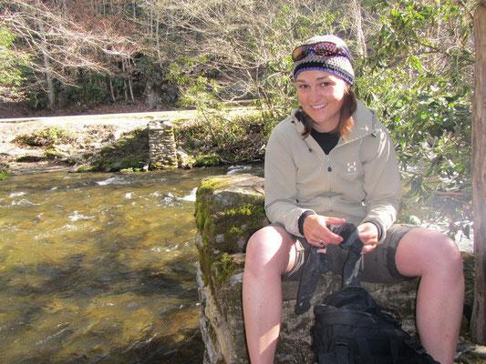 Start der Boogerman Wanderung nach Durchlaufen des eiskalten Wasser