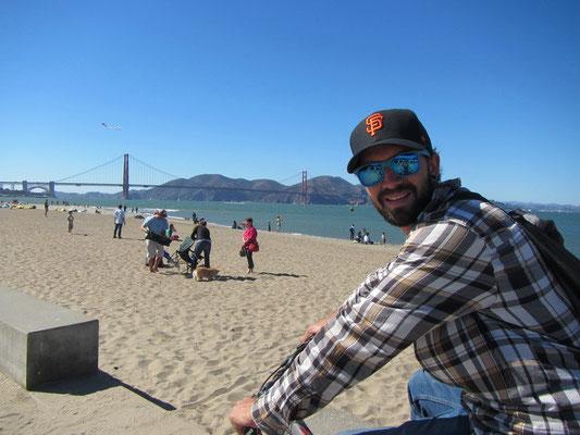 Mit dem Bike entlang des Beach