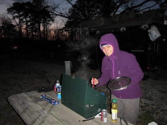 Kochen als Challenge bei der Kälte