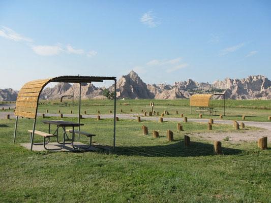 Camping im Badlands National Park