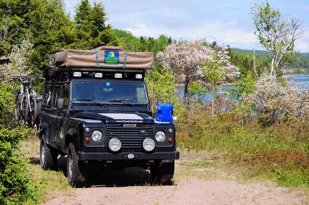 Schöner Übernachtungsplatz am Ufer vom Lake Superior