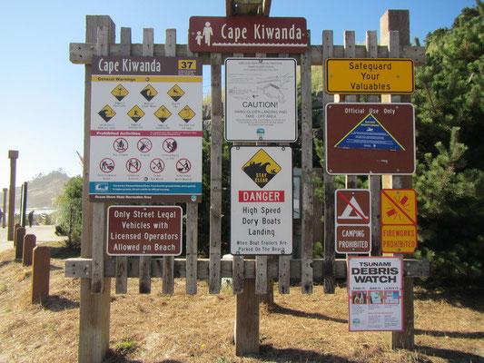 Was darf man überhaupt hier noch? Kiawanda Cape in Pacific City