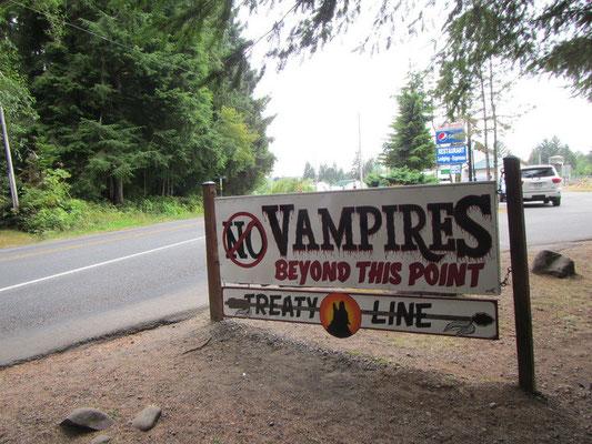Eingang zur Ortschaft LaPush