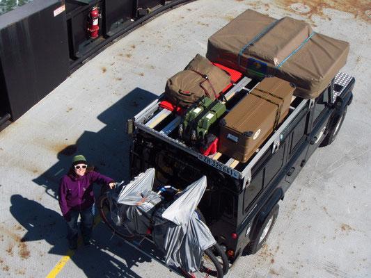 Bagheera auf der Fähre von Ocracoke Island nach Cedar Island