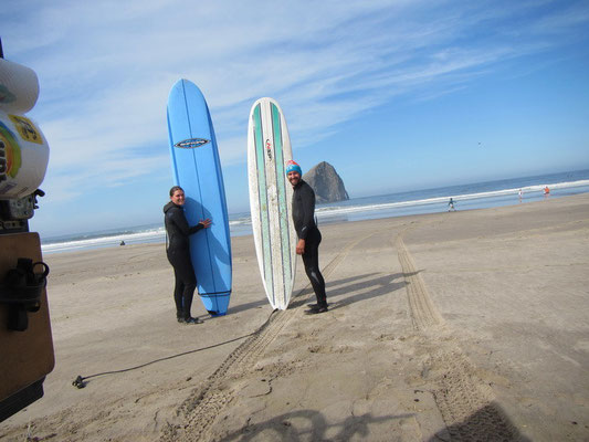 Surfen am Kiawanda Beach