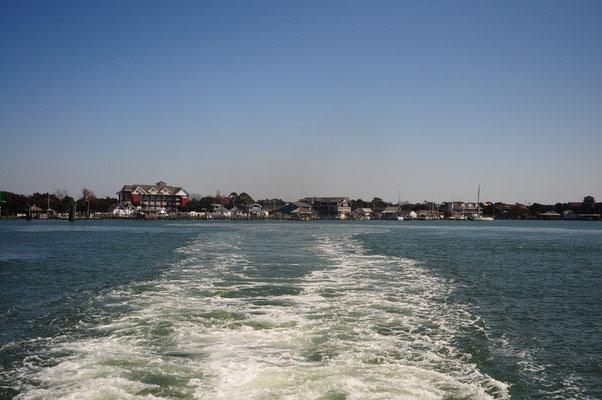 Fährenfahrt von Ocracoke Island nach Cedar Island