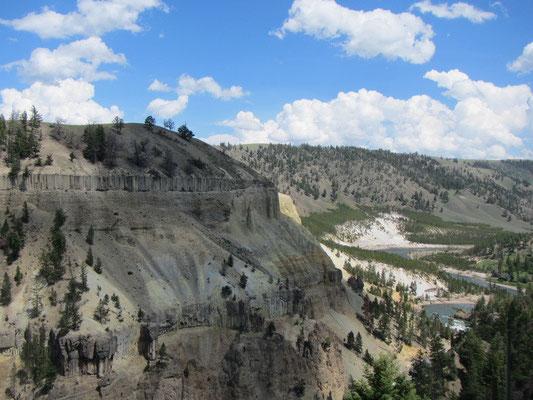 Yellowstone National Park - Weiterfahrt zum Nordeingang