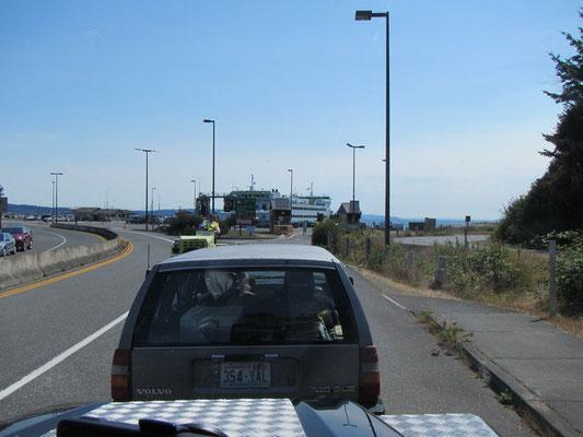 Fähre Warteschlange nach Port Townsend