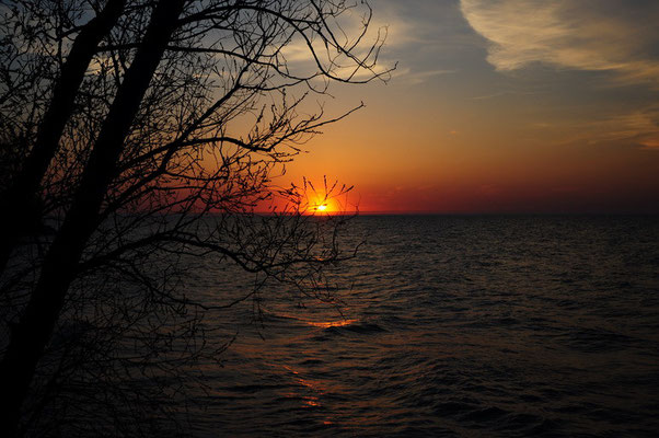 Sonnenuntergang am Lake Ontario