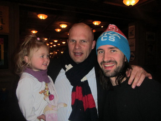 Mike mit Corry's Bruder Oli mit Tochter Lea