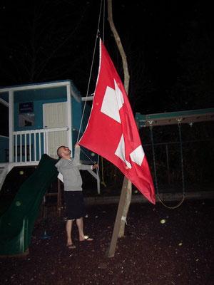 Yeahhh wir wurden mit Schweizerflagge empfangen