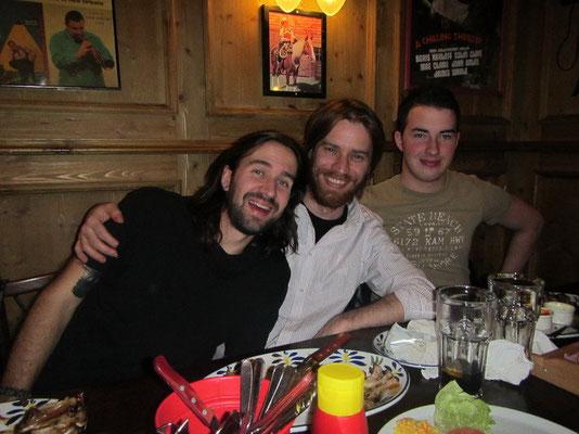 Mike, Cousin Carlo und Bruder Dean