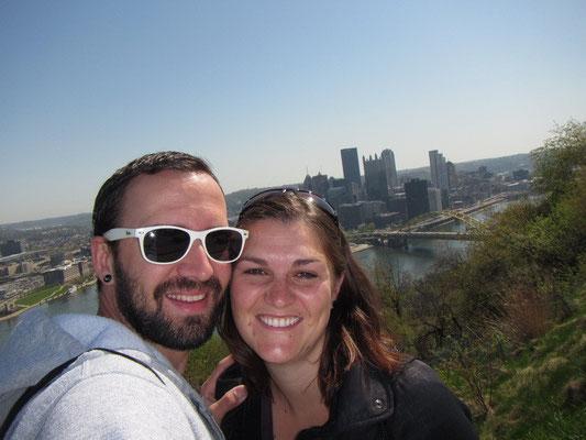 Wir auf dem Mount Washington
