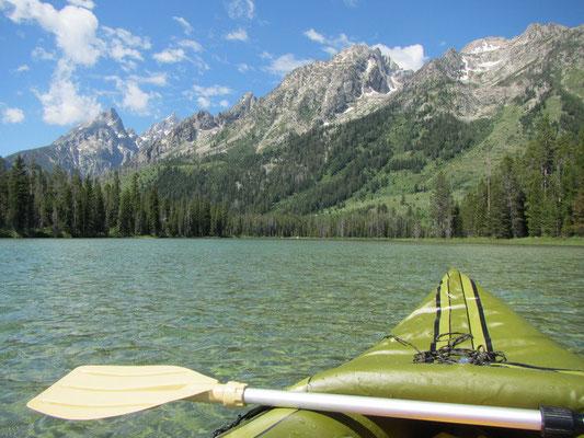 Auf dem Kayak im Grand Teton National Park