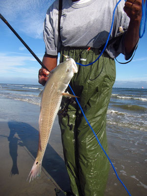 Galveston Island - Fischer am Strand