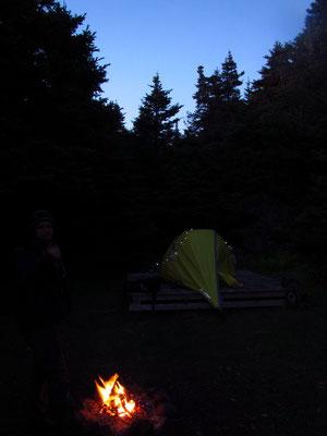 Unser Camp spät abends