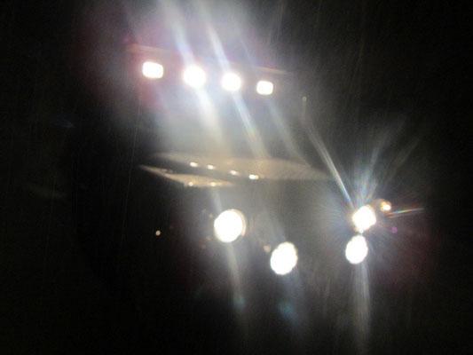 Wir brauchten alle Lichter im Wald und Regen