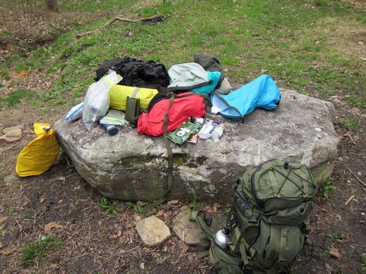 Alles muss in den Rucksack fürs Backcountry Camping
