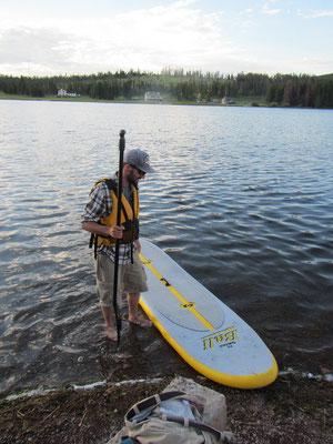 SUP Test auf dem Georgetown Lake